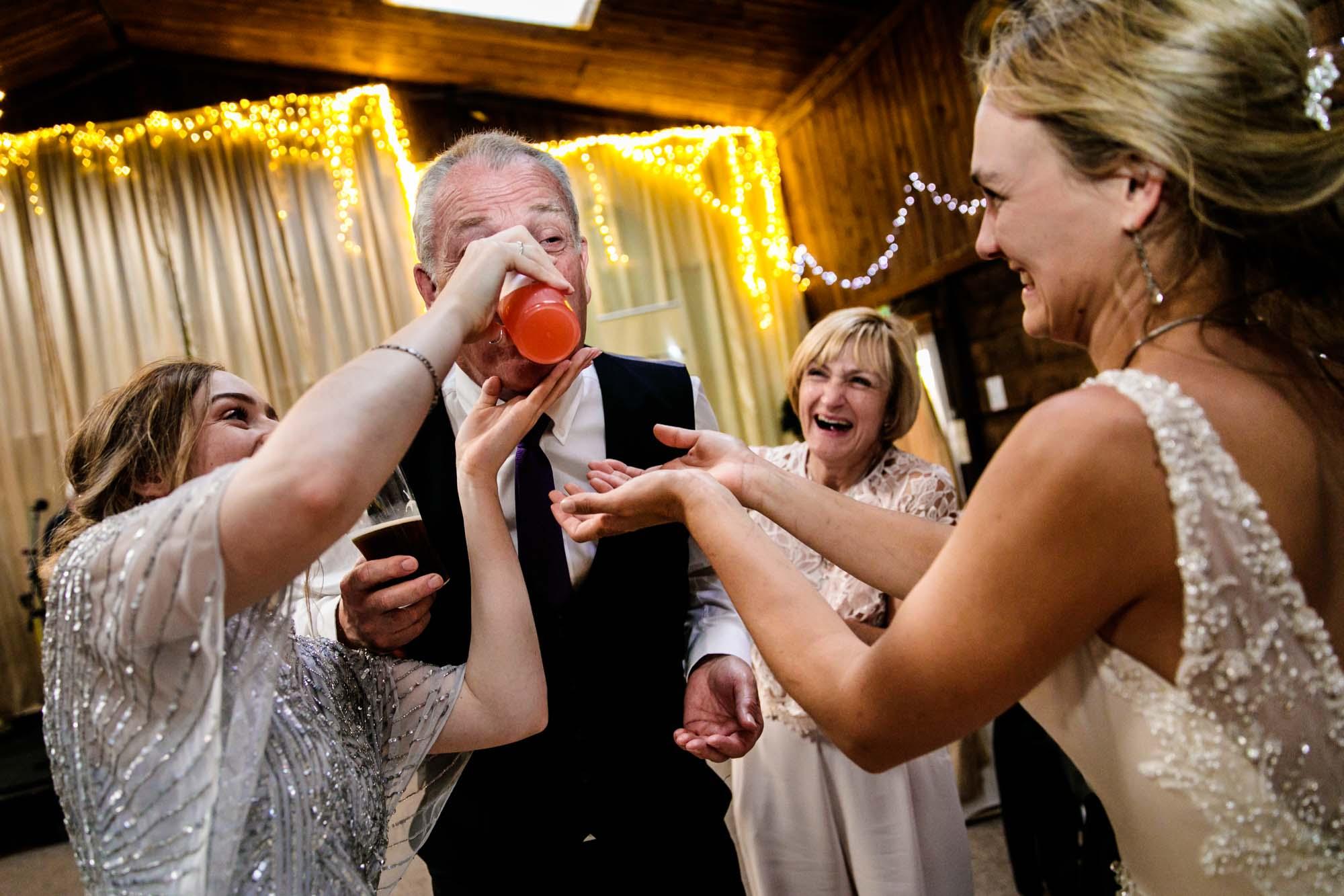 Fun Wedding Photographs Lower Damgate Farm