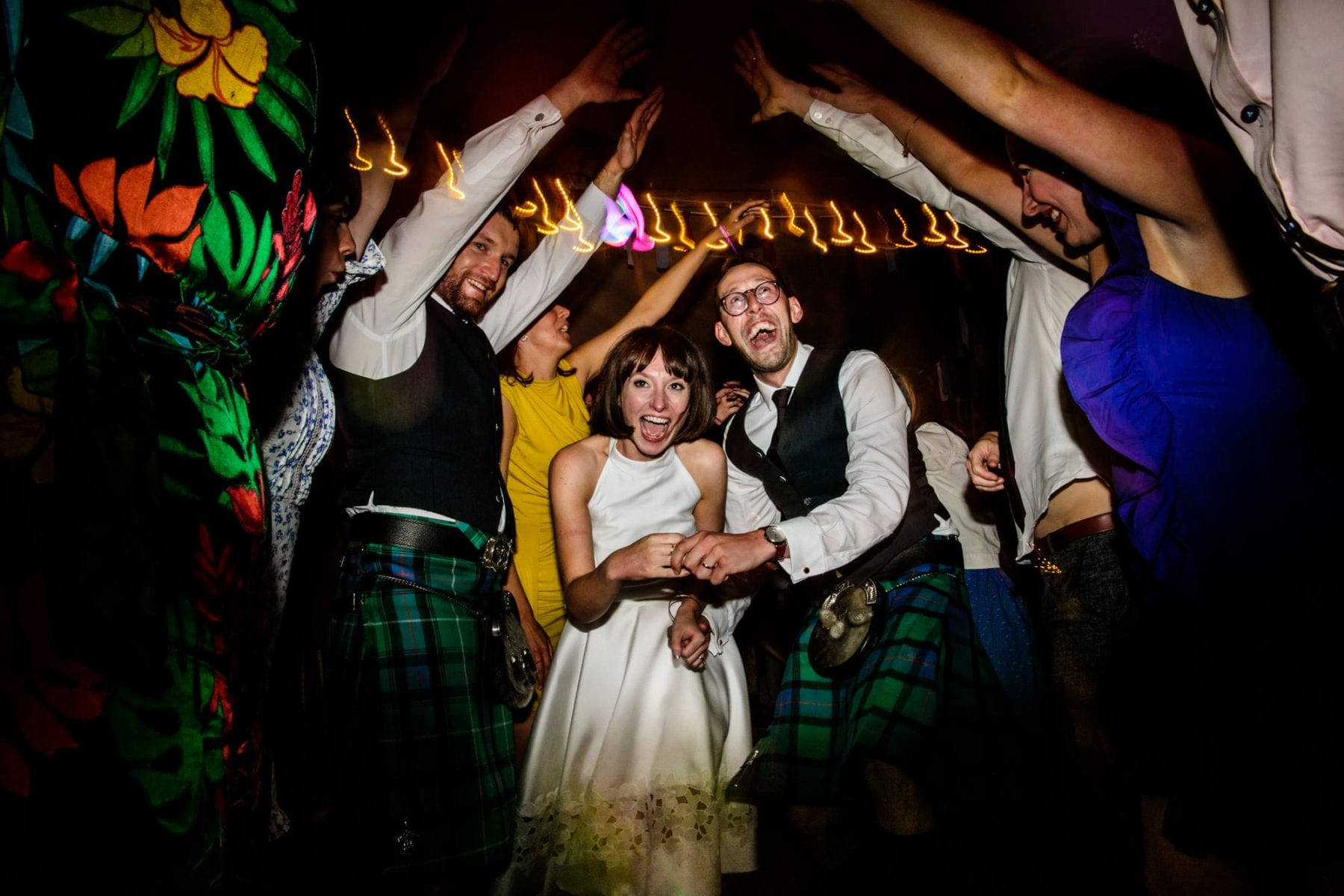 Fun Wedding Eyam Hall