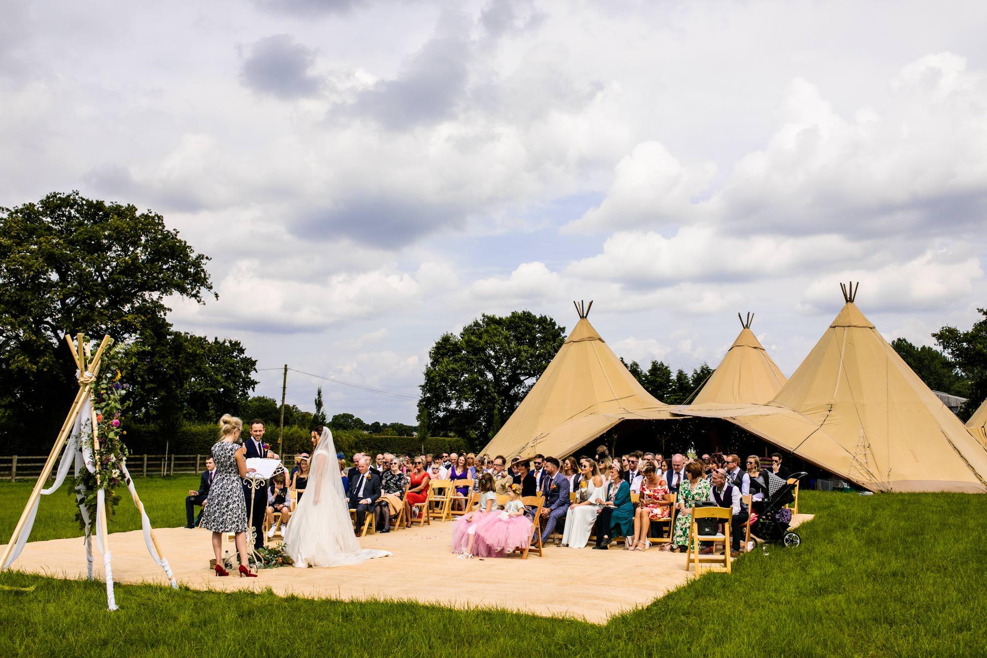 Penney Fields Tipi Wedding