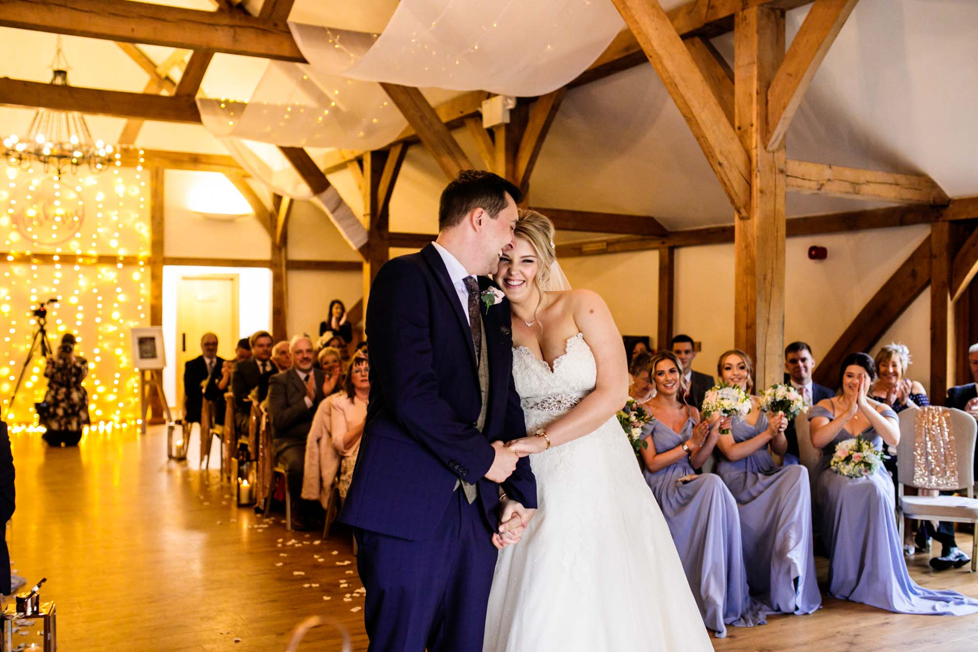 Sandhole Oak Barn Wedding Ceremony Room