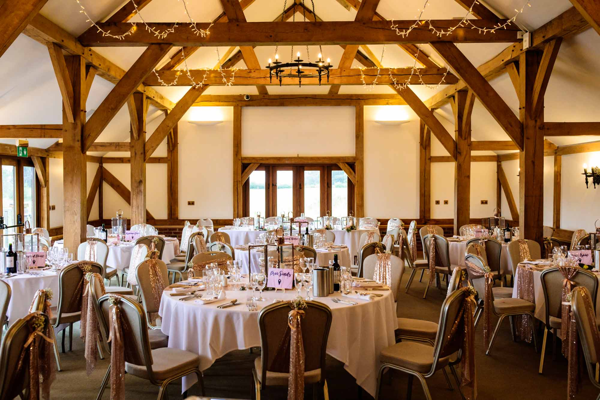Sandhole Oak Barn Wedding Reception