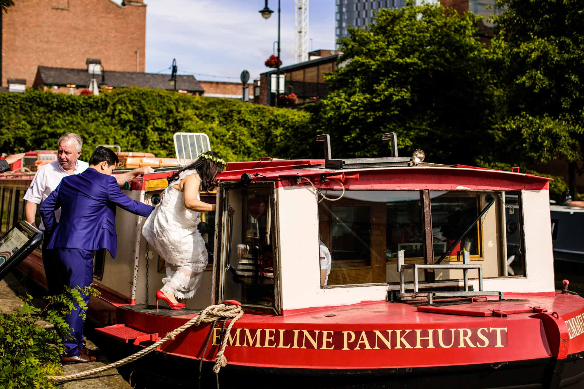 Canal Boat Wedding Manchester