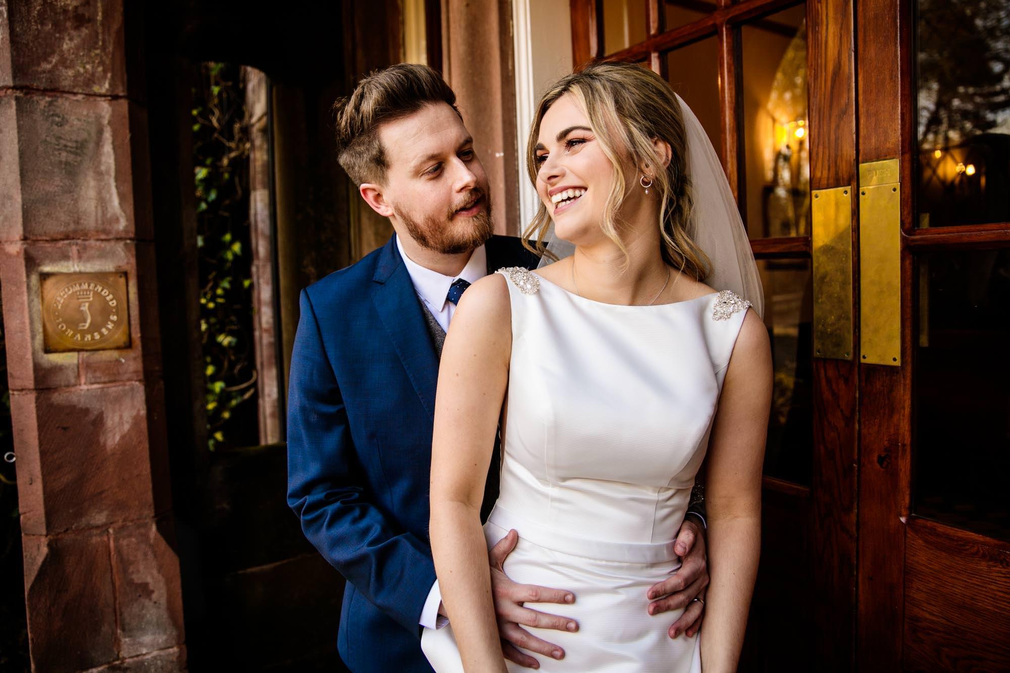 Colourful Wedding Photographs Nunsmere Hall