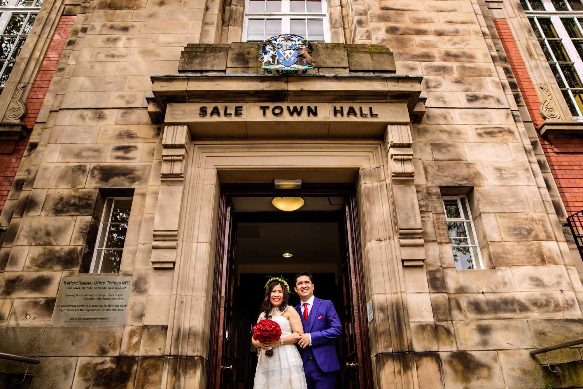 Sale Town Hall Wedding Photography