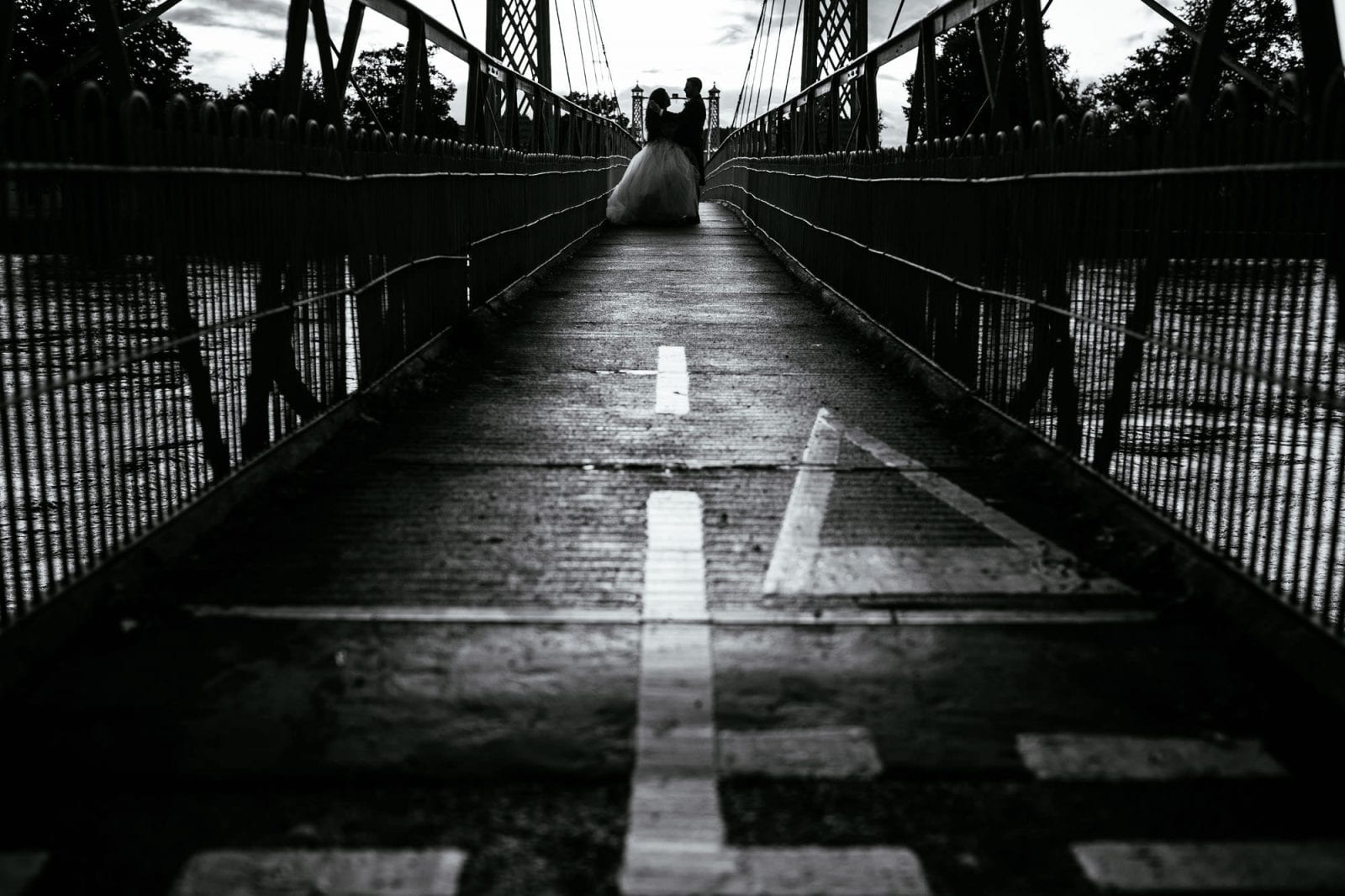 Wedding portrait on Inverness bridge