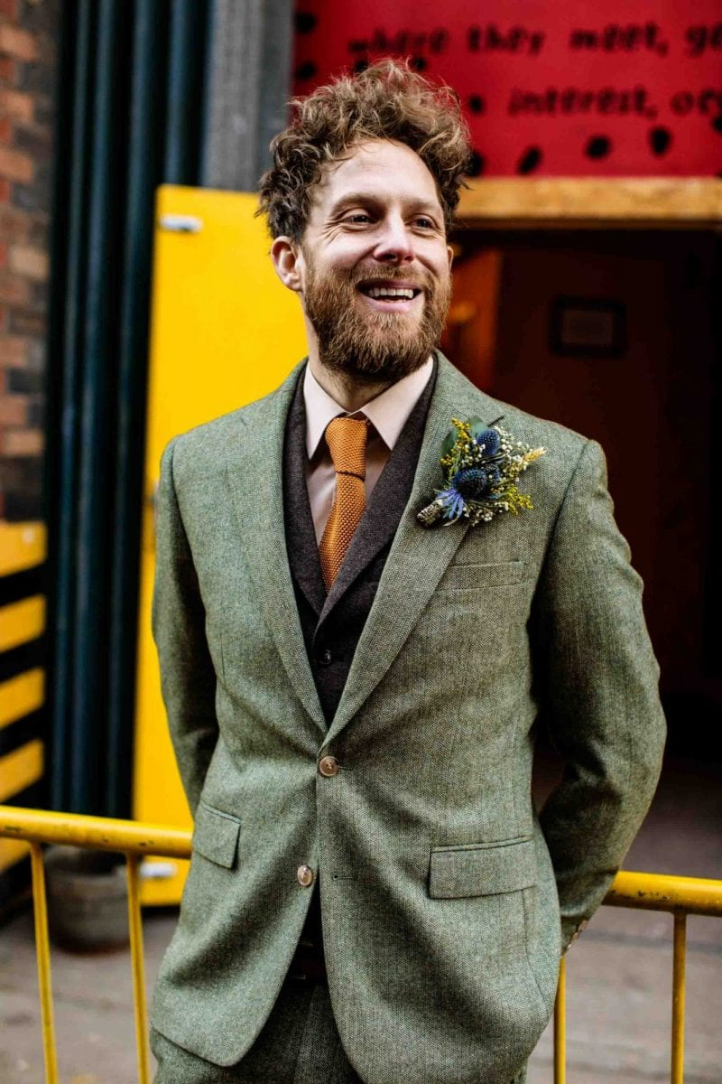 Alternative groom at Manchester wedding