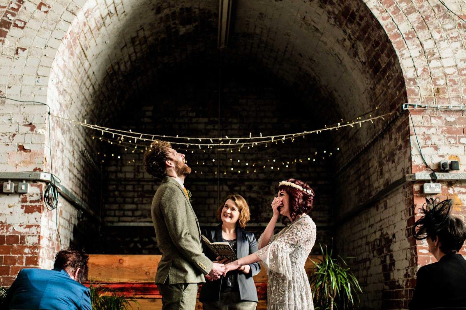 Wedding ceremony Fairfield Social Club