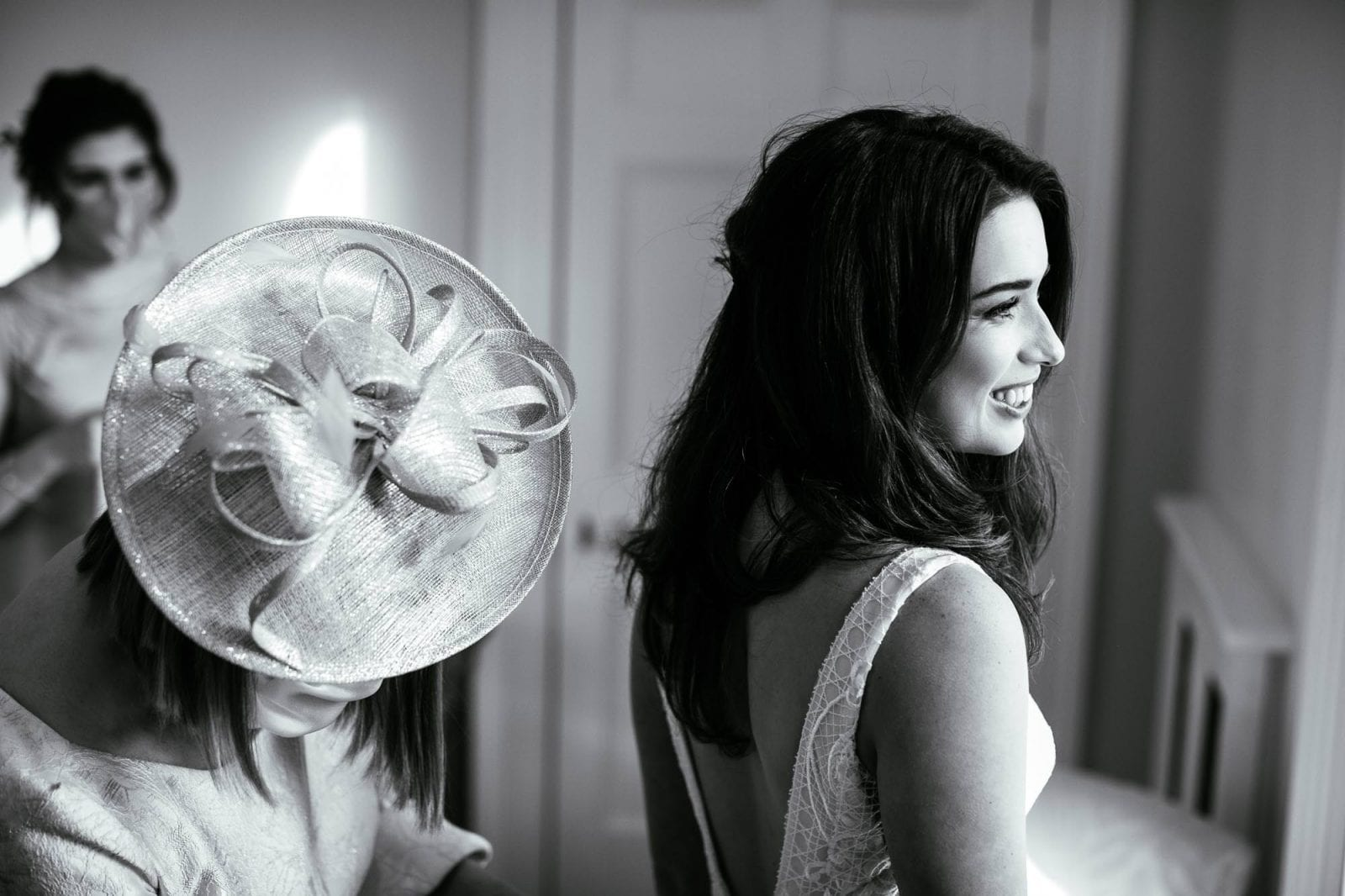 Bride getting ready at St Tewdrics House