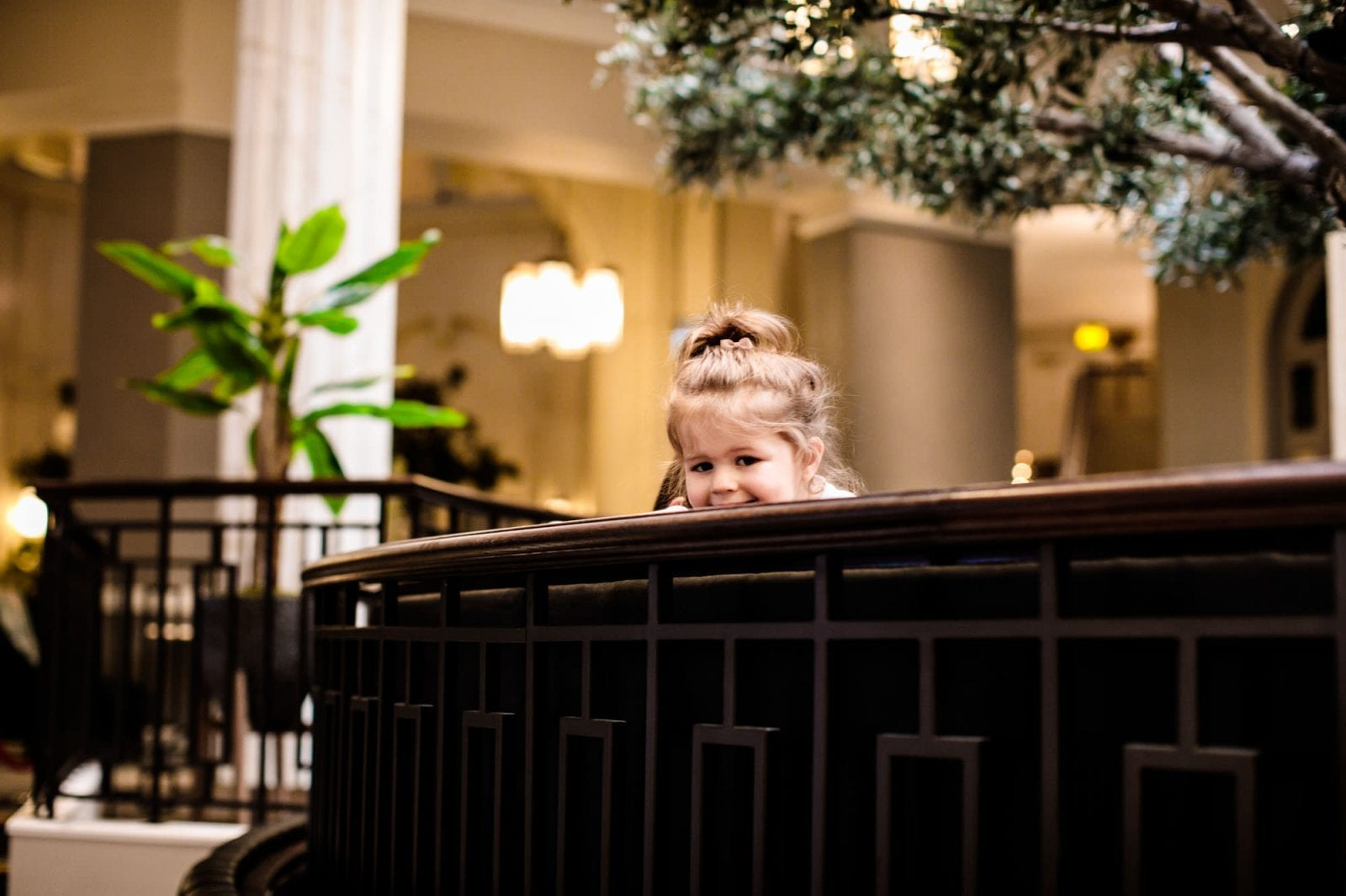 Child playing at a wedding