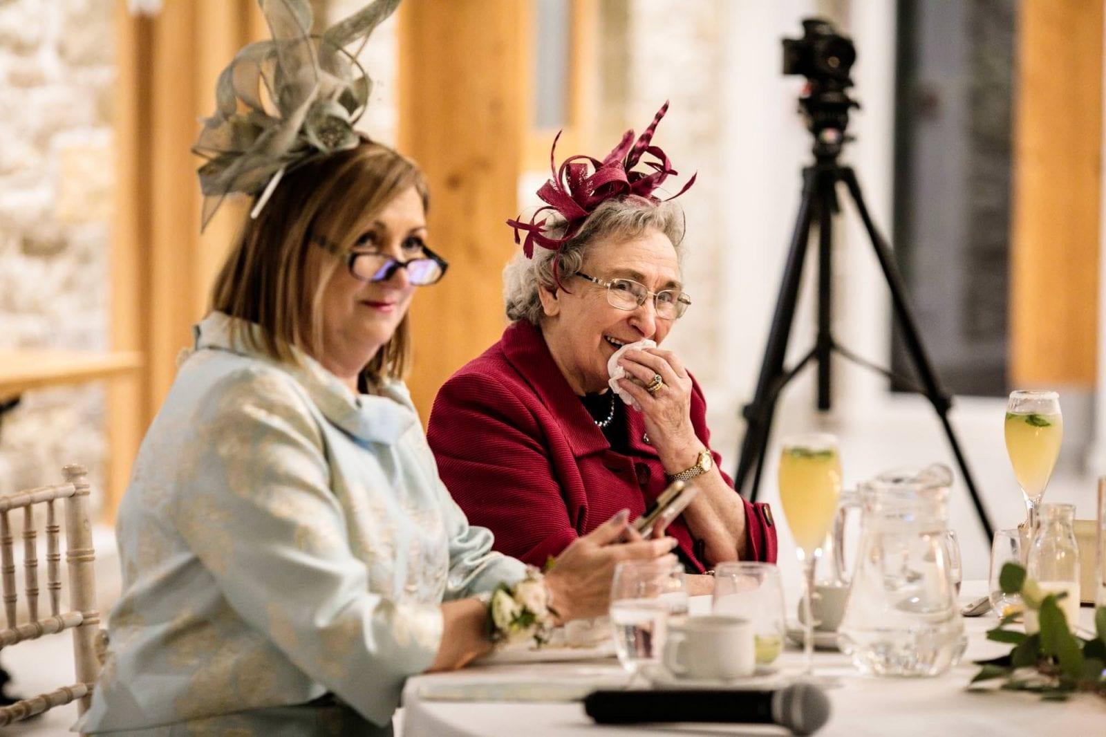 Grandma listening to speeches at St Tewdrics House