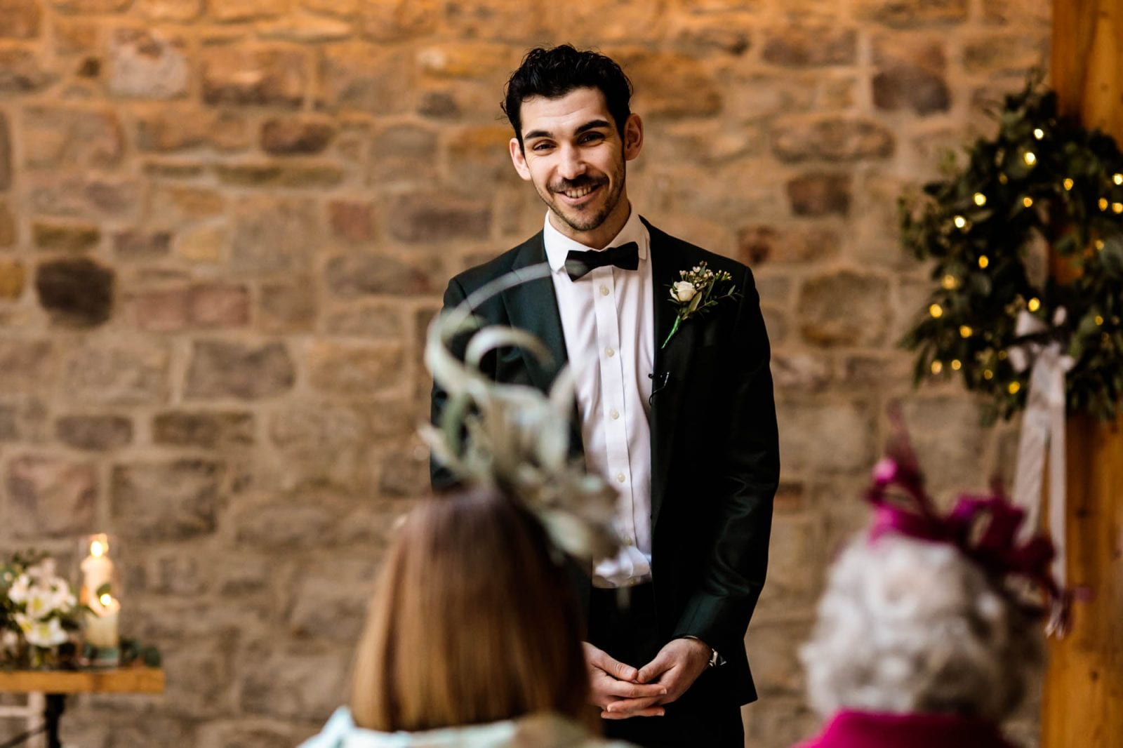 Groom waiting for bride at St Tewdrics House