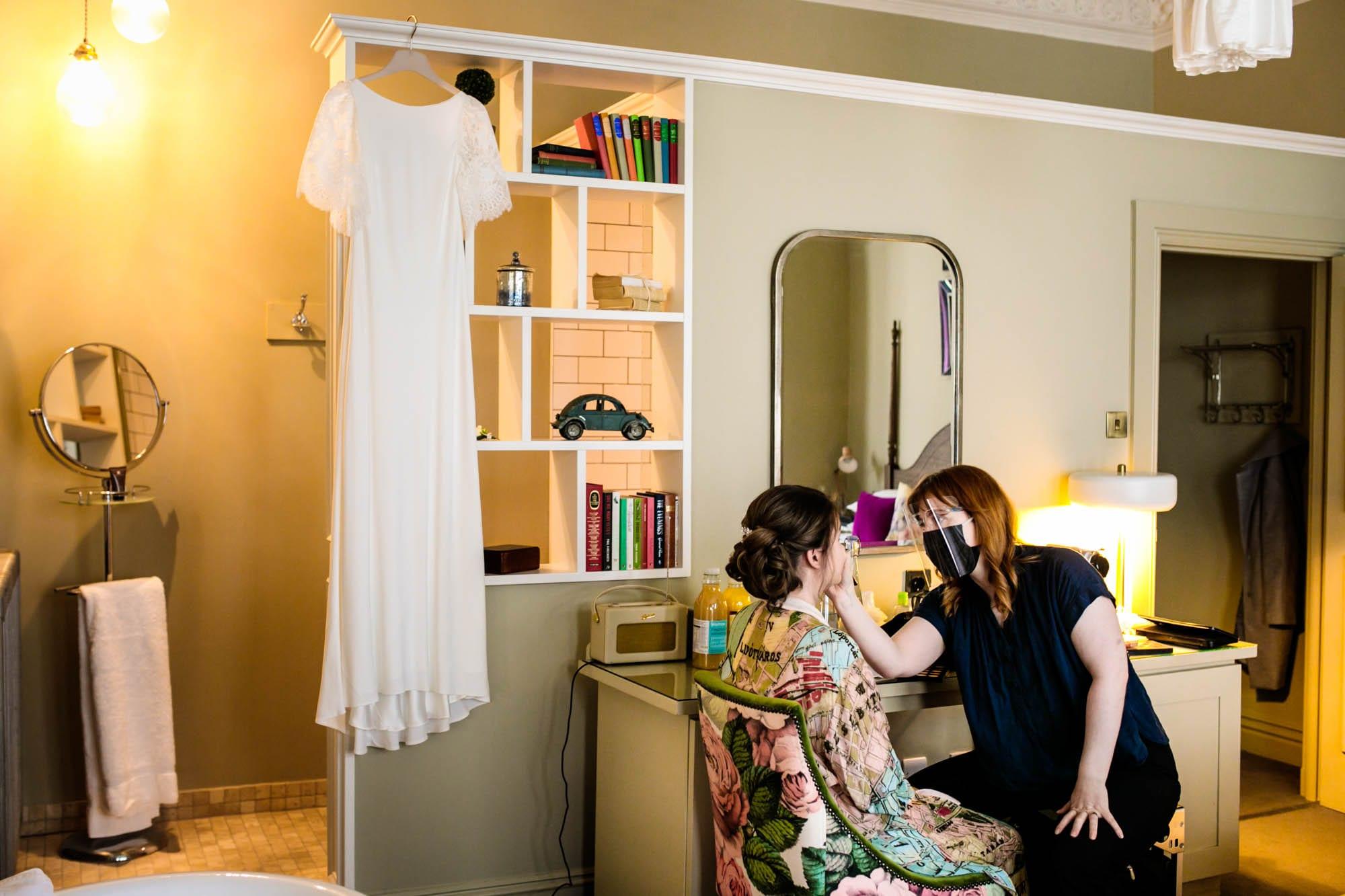 Bride getting ready Didsbury House Hotel