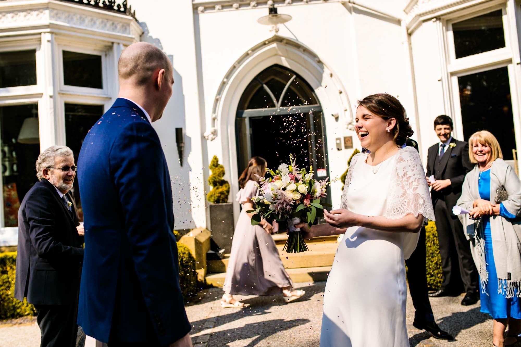 Didsbury House Hotel wedding confetti
