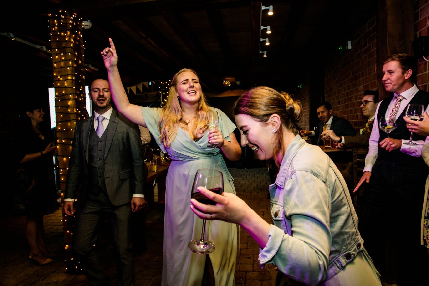 Guests dancing at Castle View Stables