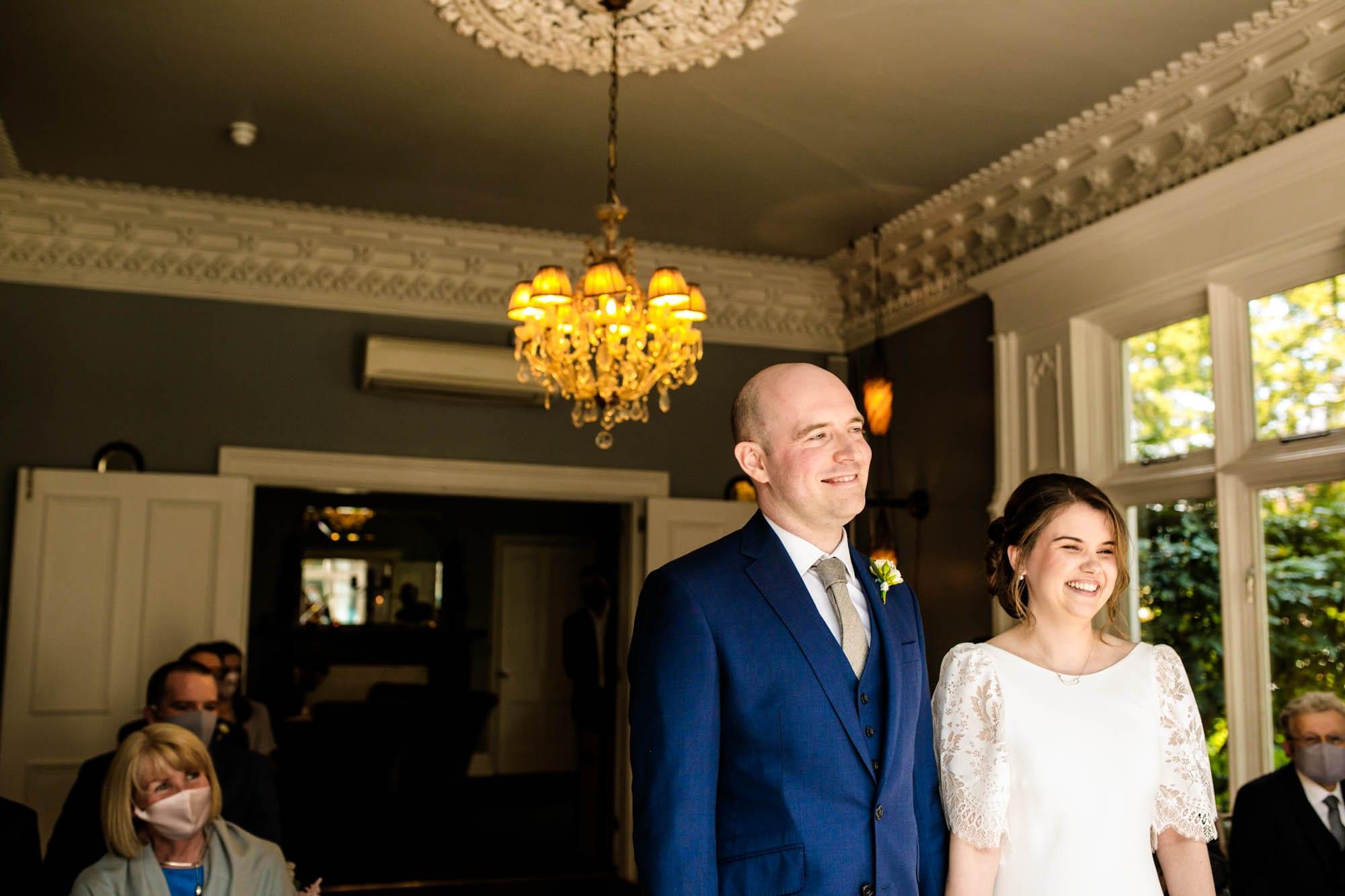 Wedding ceremony Didsbury House Hotel