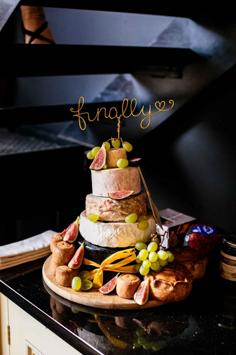 Wedding cheese cake with finally cake topper