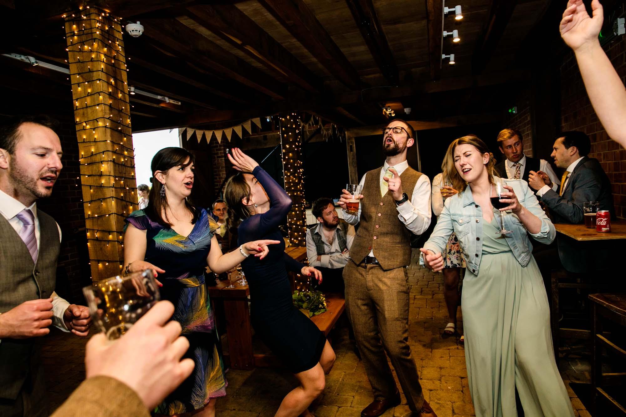 dancefloor at wedding reception